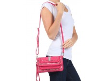 Pink Ribbon Shoulder Bag - Fuchsia