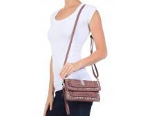 Pink Ribbon Multiway Shoulder Bag - Dusty Rose / Mauve