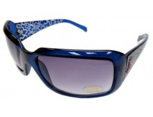 Pink Ribbon Sunglasses - Rectangular Blue