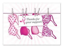 1 Dz. Pink Ribbon Thank You cards (12 pcs)