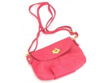 Pink Ribbon Small Shoulder Bag - Hot Pink