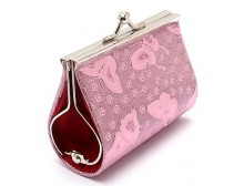 Breast Cancer Butterfly Lace Pink Coin Purse
