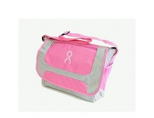 Embroidered Pink Ribbon Overnight Bag