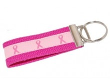 Pink Ribbon Pink Key Fob
