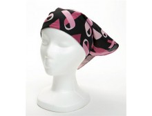 Black Pink Ribbon Bandana