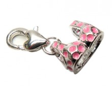 Pink Polka Dot Bra Charm