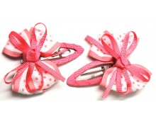Pink Ribbon Bow Hair Clip