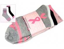 Breast Cancer Awareness 3 Pack Socks -Style 08