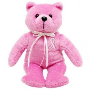 Breast Cancer Awareness Pink Ribbon Pink Bear