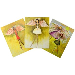 Pink Ribbon Blank Thank You Cards