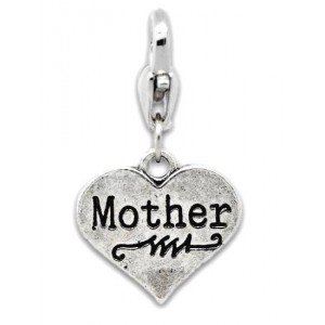 """Heart """"Mother"""" Charm"""