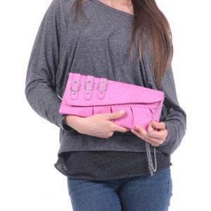 Pink Ribbon Casual Evening Bag Clutch