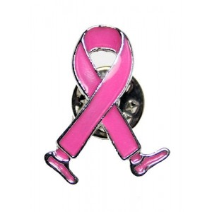 Pink Ribbon Walking Pin