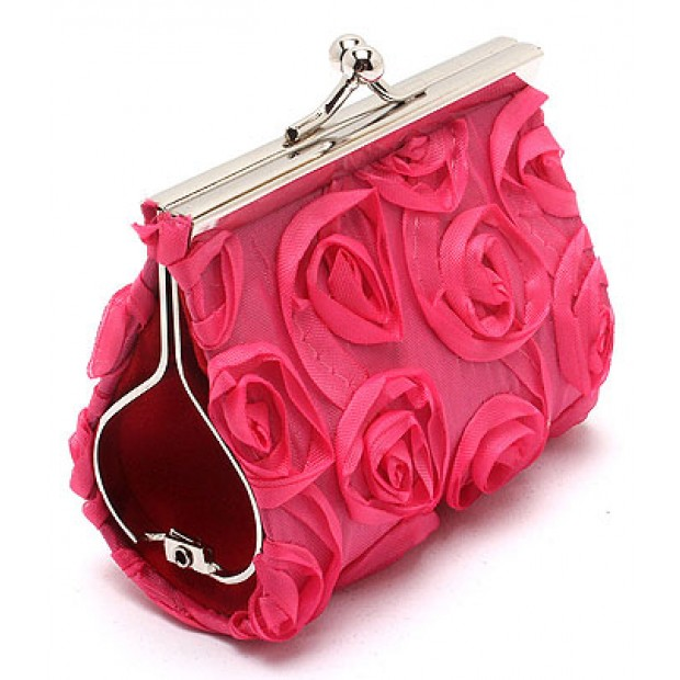 Breast Cancer Rose Pink Coin Purse