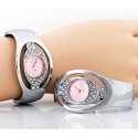Pink Face Cuff Watch