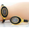 Black & Gold Oval Watch