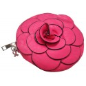 Flower Wristlet Purse/Handbag/Coin Wallet in  Fuchsia