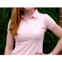Ladies Pink Ribbon Polo Shirt -Pink