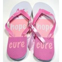 Pink Ribbon Flip Flops - Love Hope Cure