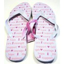 Pink Ribbon Flip Flops - Courage Support