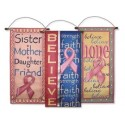 Pink Ribbon Banner Set