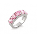 Pink Five Point Cz Ring