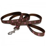 Pink Ribbon Dog Leash - Brown