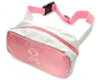 Embroidered Pink Ribbon Fanny Pack