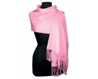 Pink Soft Cotton Pashmina/Shawl/Wrap Scarf