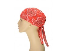 Ladies Orange Head Wrap Bandanna