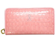 Pink Ribbon Wallet with Zipper