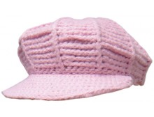 Ladies Pink Newsboy Hat