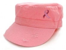 Pink Ribbon Military Cap