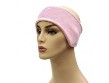 Pink Ribbon Fleece Headband
