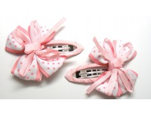 Light Pink Ribbon Bow Hair Clip